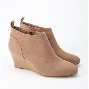 Forever 21 Faux Sude Wedge Booties 7